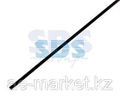 Термоусаживаемая трубка REXANT 4,0/2,0 мм,  черная (бухта 200 м)