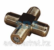Переходник соединитель PROconnect x4 гнезда F (F- крест)