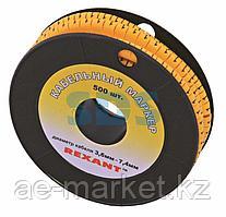 Маркеры на кабель,  ø 3,6... 7,4 мм,  цифры 0-9, комплект 10 роликов (EC-2) REXANT