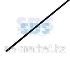 Термоусаживаемая трубка REXANT 15,0/7,5 мм,  черная (бухта 100 м)