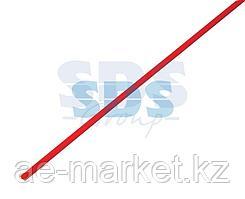 Термоусаживаемая трубка REXANT 2,0/1,0 мм,  красная (бухта 200 м)