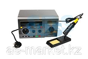 Многофункциональная цифровая паяльная станция с мультиметром и ЖК дисплеем REXANT,  220 В/48 Вт