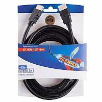 Шнур HDMI-HDMI REXANT,  3 м,  Gold с ферритами