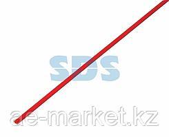Термоусаживаемая трубка REXANT 2,0/1,0 мм,  красная,  упаковка 50 шт.  по 1 м