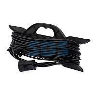 Удлинитель на рамке 30 метров черный ПВС 2х0.75 мм² (6 А/1300 Вт) PROconnect