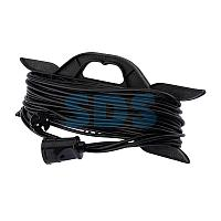 Удлинитель-шнур на рамке PROconnect ПВС 2х0.75, 30 м,  б/з,  6 А,  1300 Вт,  IP20, черный (Сделано в России)