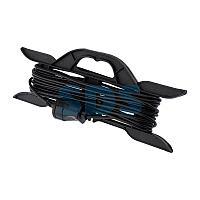 Удлинитель-шнур на рамке PROconnect ПВС 2х0.75, 10 м,  б/з,  6 А,  1300 Вт,  IP20, черный (Сделано в России)