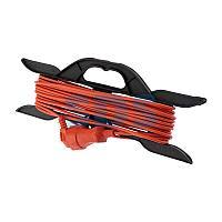 Удлинитель-шнур на рамке PROconnect ПВС 2х0.75, 10 м,  б/з,  6 А,  1300 Вт,  IP20, оранжевый (Сделано в