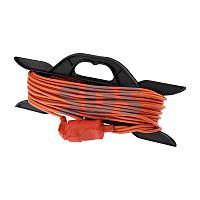 Удлинитель-шнур на рамке PROconnect ПВС 2х0.75, 20 м,  б/з,  6 А,  1300 Вт,  IP20, оранжевый (Сделано в