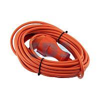 Удлинитель-шнур PROconnect ПВС 3х0.75, 10 м,  с/з,  6 А,  1300 Вт,  IP44, оранжевый (Сделано в России)