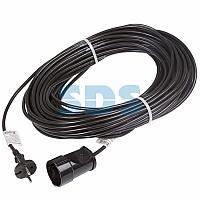 Удлинитель шнур 30 м (1 розетка) 2х0.75 мм² черный REXANT (Сделано в России)