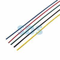 Термоусаживаемые трубки REXANT 2,0/1,0 мм,  набор пять цветов,  упаковка 50 шт.  по 1 м