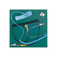 Коврик антистатический термостойкий 200х200х2.5 мм с браслетом и гарнитурой