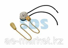 Выключатель для настенного светильника c проводом и деревянным наконечником «Gold» REXANT