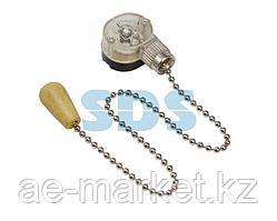 Выключатель для настенного светильника c деревянным наконечником «Silver» REXANT