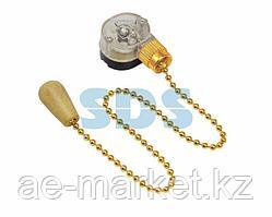 Выключатель для настенного светильника c деревянным наконечником «Gold» REXANT