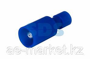 Разъем штекерный полностью изолированный штекер 4 мм 1.5-2.5 мм² (РШПи-п 2.5-4/РШИп 2-5-4) синий REXANT