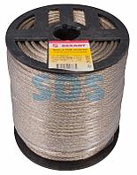 Трос стальной в ПВХ оплетке d=5,0 мм,  прозрачный (бухта 100 м) REXANT