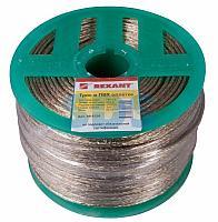 Трос стальной в ПВХ оплетке d=3,0 мм,  прозрачный (бухта 200 м) REXANT