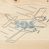 Доска для выжигания REXANT,  «Самолет»,  150х150 мм,  1 шт. ,  пакет