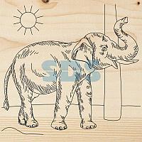 Доска для выжигания REXANT,  «Слон»,  150х150 мм,  1 шт. ,  пакет