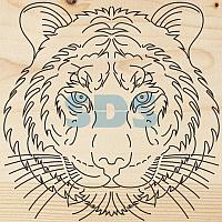 Доска для выжигания REXANT,  «Тигр»,  150х150 мм,  1 шт. ,  пакет