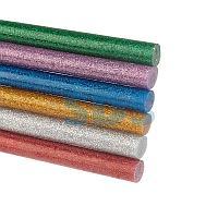 Стержни клеевые REXANT Ø 11 мм,  100 мм,  цветные с блестками (12 шт. /уп. ) (блистер)