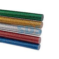 Стержни клеевые REXANT Ø 11 мм,  270 мм,  цветные с блестками (10 шт. /уп. ) (хедер)