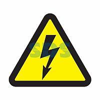 """Наклейка знак электробезопасности """"Опасность поражения электротоком """"100*100*100 мм Rexant"""