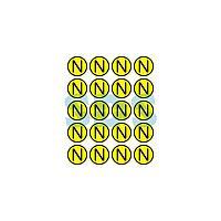 Наклейка знак электробезопасности «N» d - 20 мм REXANT (20шт на листе)