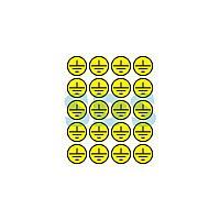 Наклейки знаки электробезопасности «Заземление» d - 20 мм REXANT (20шт на листе)