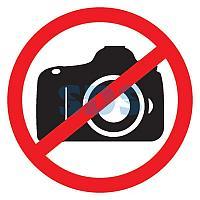 Табличка ПВХ запрещающий знак «Фотосъемка запрещена» 150х150 мм REXANT