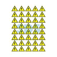 Наклейка знак электробезопасности «Опасность поражения электротоком» 50х50х50 мм REXANT 50шт.