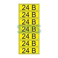 Наклейка знак электробезопасности «24 В» 35х100 мм REXANT (7 шт на листе)
