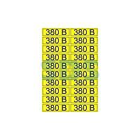 Наклейка знак электробезопасности «380 В» 15х50 мм REXANT (20шт на листе)