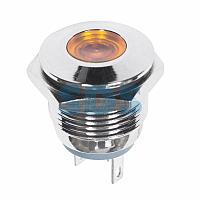 Индикатор металл Ø16 12В подсв/желтая LED REXANT