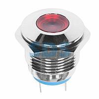 Индикатор металл Ø16 12В подсв/красная LED REXANT