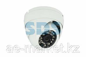 Купольная уличная камера IP 1.0Мп (720P),  объектив 3.6 мм. ,  ИК до 20 м.