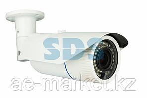 Цилиндрическая уличная камера IP 2.1Мп Full HD (1080P),  объектив 2.8-12 мм. ,  ИК до 40 м. ,  12В/PoE