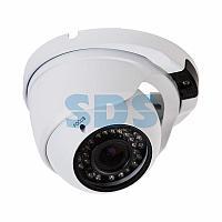 Купольная уличная камера IP 2.1Мп Full HD (1080P),  объектив 2.8- 12 мм. ,  ИК до 30 м. ,  PoE + Звук