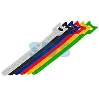 Набор хомутов-стяжек многоразовых на липучке REXANT 310х16 мм,  цветная,  упаковка 12 шт.