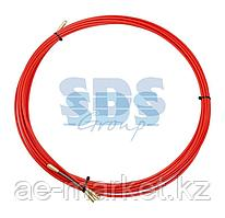 Протяжка кабельная (мини УЗК в бухте),  стеклопруток,  d=3,5 мм,  7 м красная