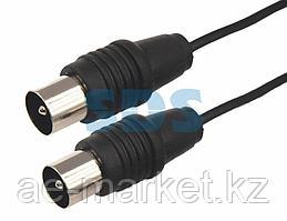 ВЧ кабель ТВ штекер - ТВ штекер,  длина 3 метра,  черный REXANT