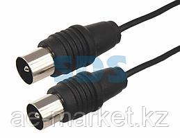 ВЧ кабель ТВ штекер - ТВ штекер,  длина 7 метров,  черный REXANT
