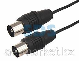 ВЧ кабель ТВ штекер - ТВ штекер,  длина 10 метров,  черный REXANT