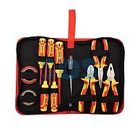 Набор диэлектрического инструмента REXANT RI-02, 11 предметов,  до 1000 В,  тканевый пенал