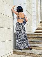 Платье длинное с открытой спиной