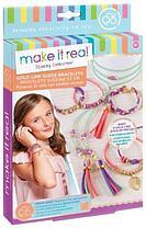 Набор для создания браслетов и подвесок MAKE IT REAL Gold Link Suede Bracelets