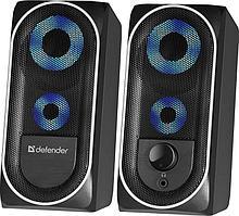 Компактная акустика 2.0 Defender Solar 2 черный