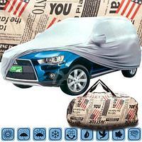 Тент-чехол с подкладкой всесезонный с сумкой «Америка» для защиты автомобиля (3L)